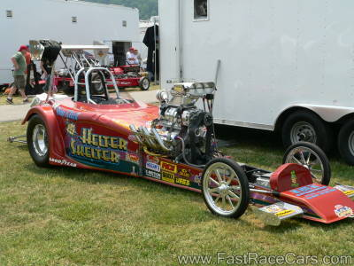 Wicked Altered Drag Car with Blower