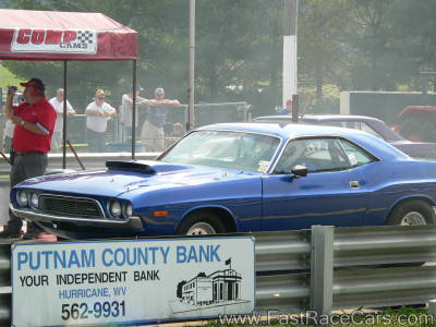 Blue CHALLENGER Drag Car