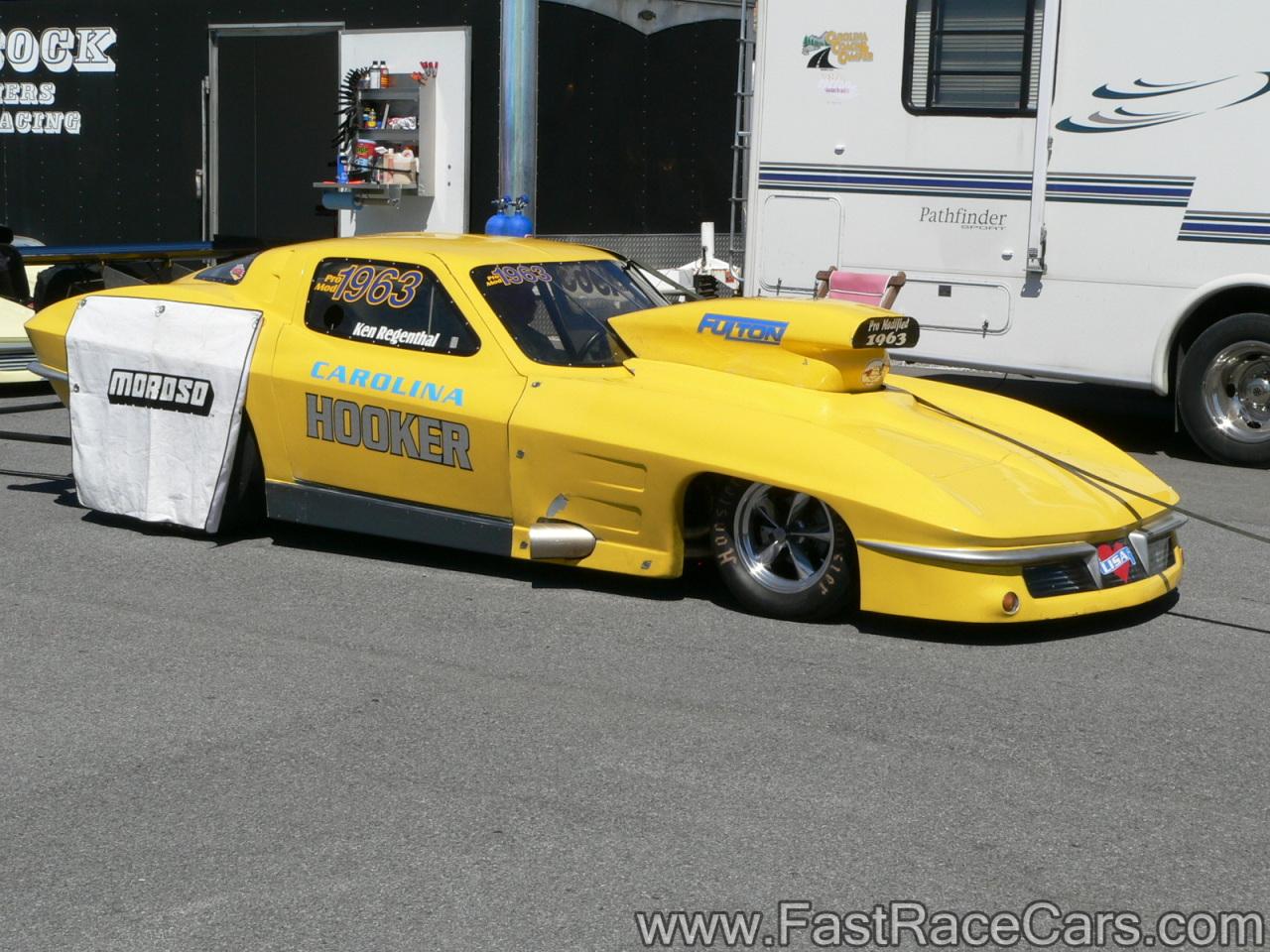 Drag race cars gt corvettes picture of orange 1963 corvette side view