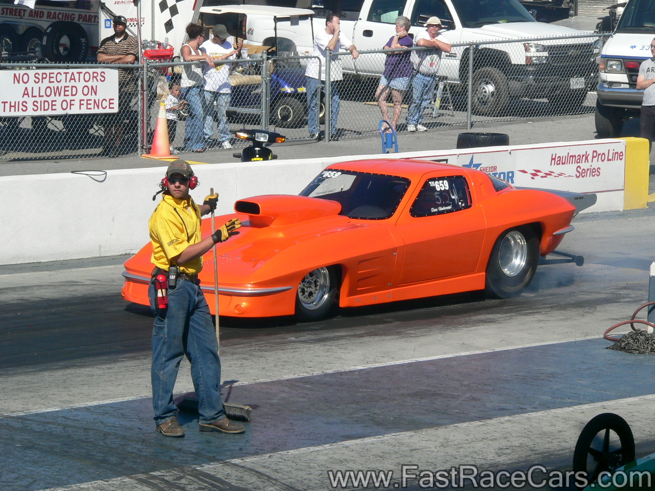 Drag Race Cars > Corvettes > Picture of ORANGE CORVETTE Top ...