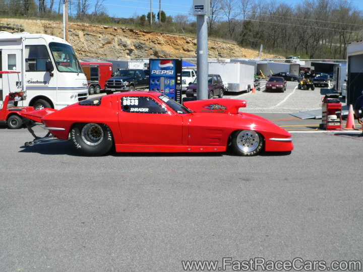 1963 RED CORVETTE Drag Car