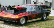 BLACK FLAMED CORVETTE