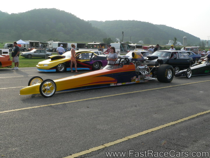 Orange and Yellow DRAGSTER