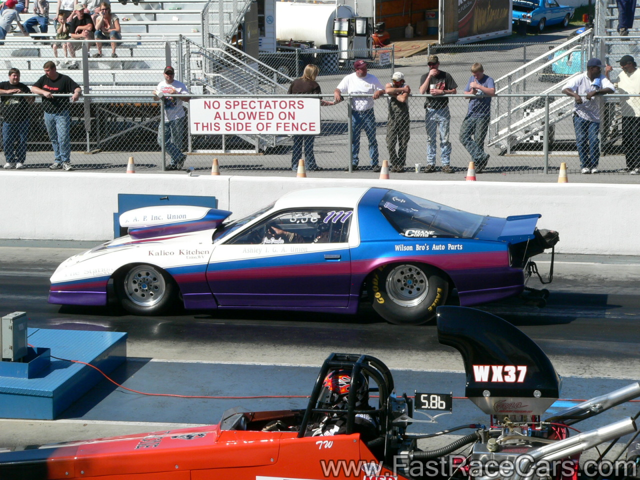 Drag Race Cars > Firebirds > Picture of WHITE and PURPLE PONTIAC ...