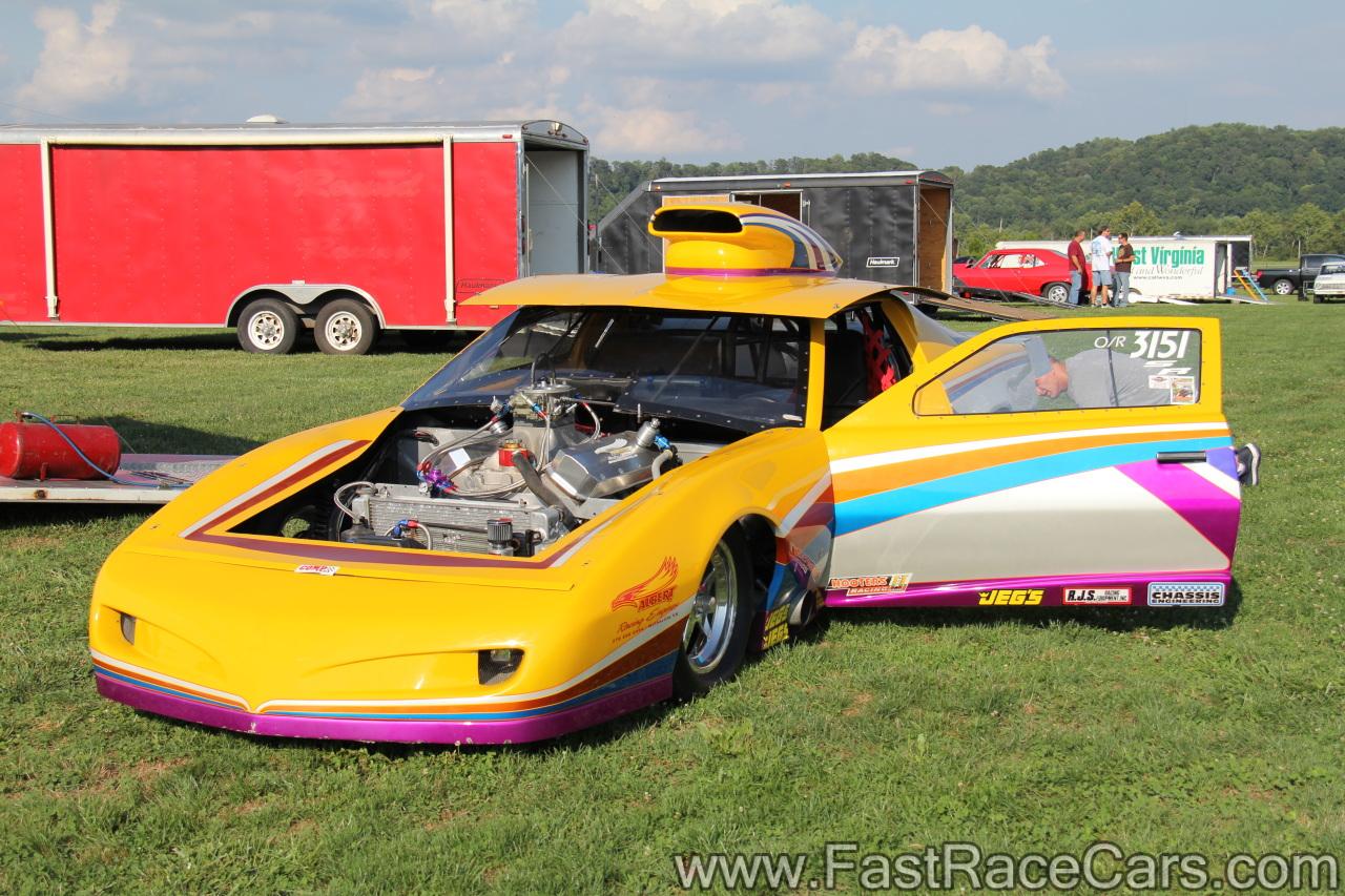 Drag Race Cars > Firebirds > Picture of Yellow Pontiac Firebird Drag Car