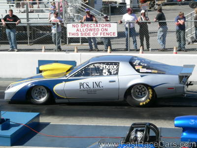 SILVER PONTIAC Firebird Drag Car
