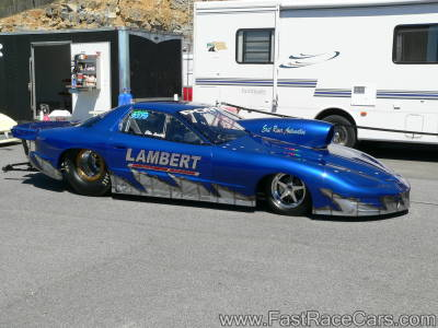 BLUE FIREBIRD Drag Car