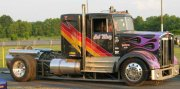 Jet-powered Semi Truck