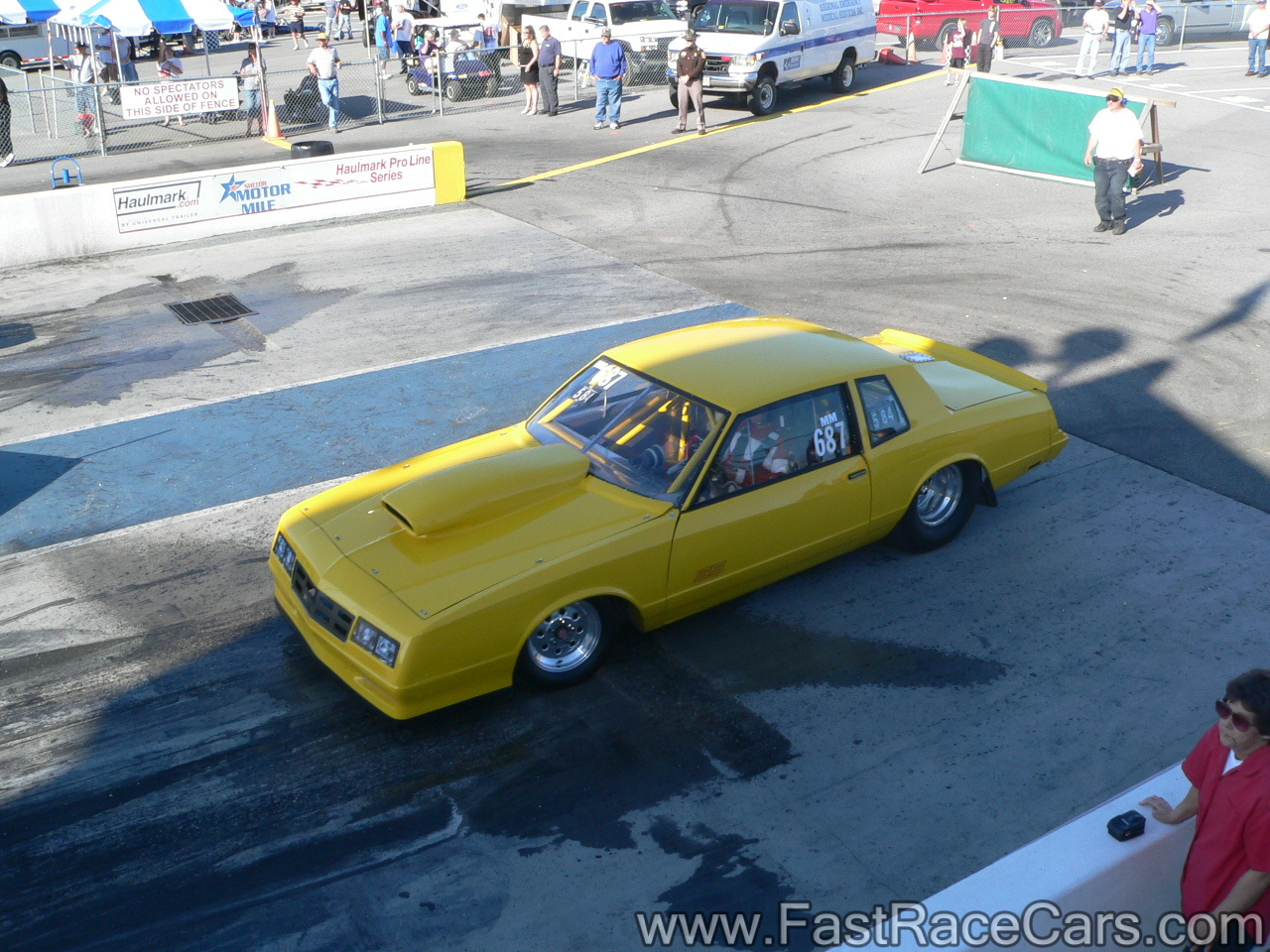 Drag Race Cars > Monte Carlos > Picture of Yellow Monte Carlo Drag Car