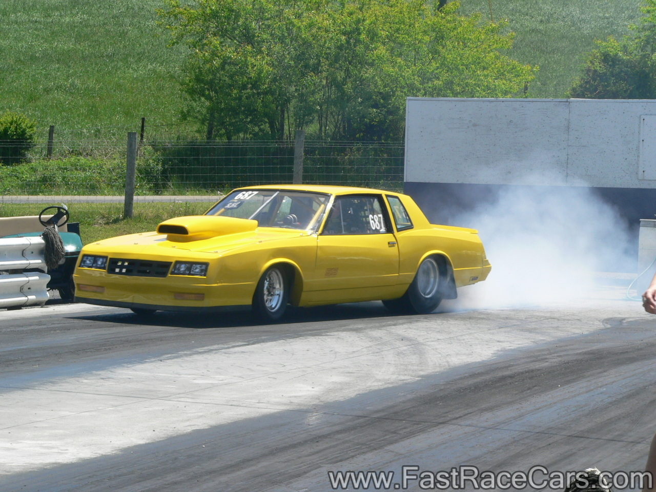 Drag Race Cars > Monte Carlos > Picture of Yellow Monte Carlo Drag ...