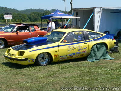 Yellow and Blue MONZA Drag Car