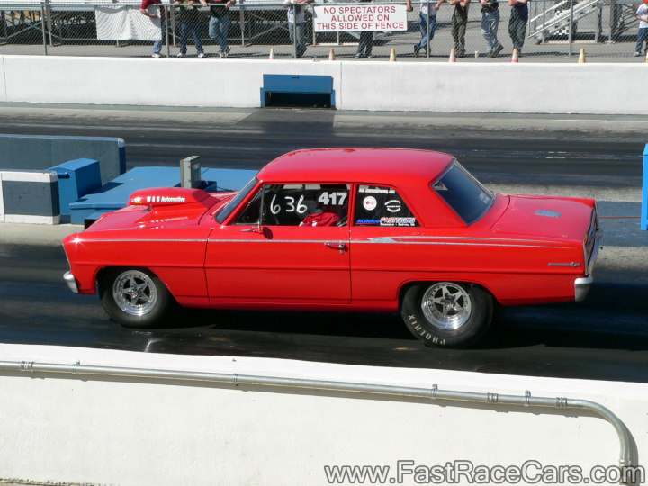 RED 64 NOVA Drag Car