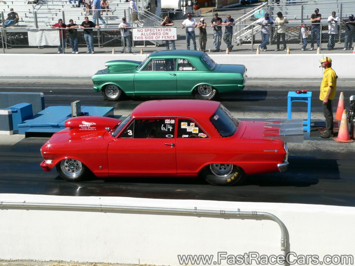RED 65 NOVA Drag Car