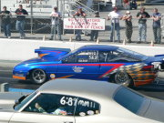 Blue Ford Probe Drag Car