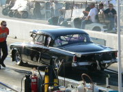 Blown Black Studebaker 10.5 Outlaw Drag Car