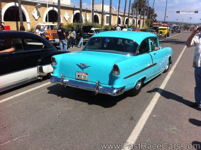 Blue 1955 2-door Chevy Bel Air