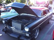Matte Black with Red Roof 1956 Chevrolet Bel Air