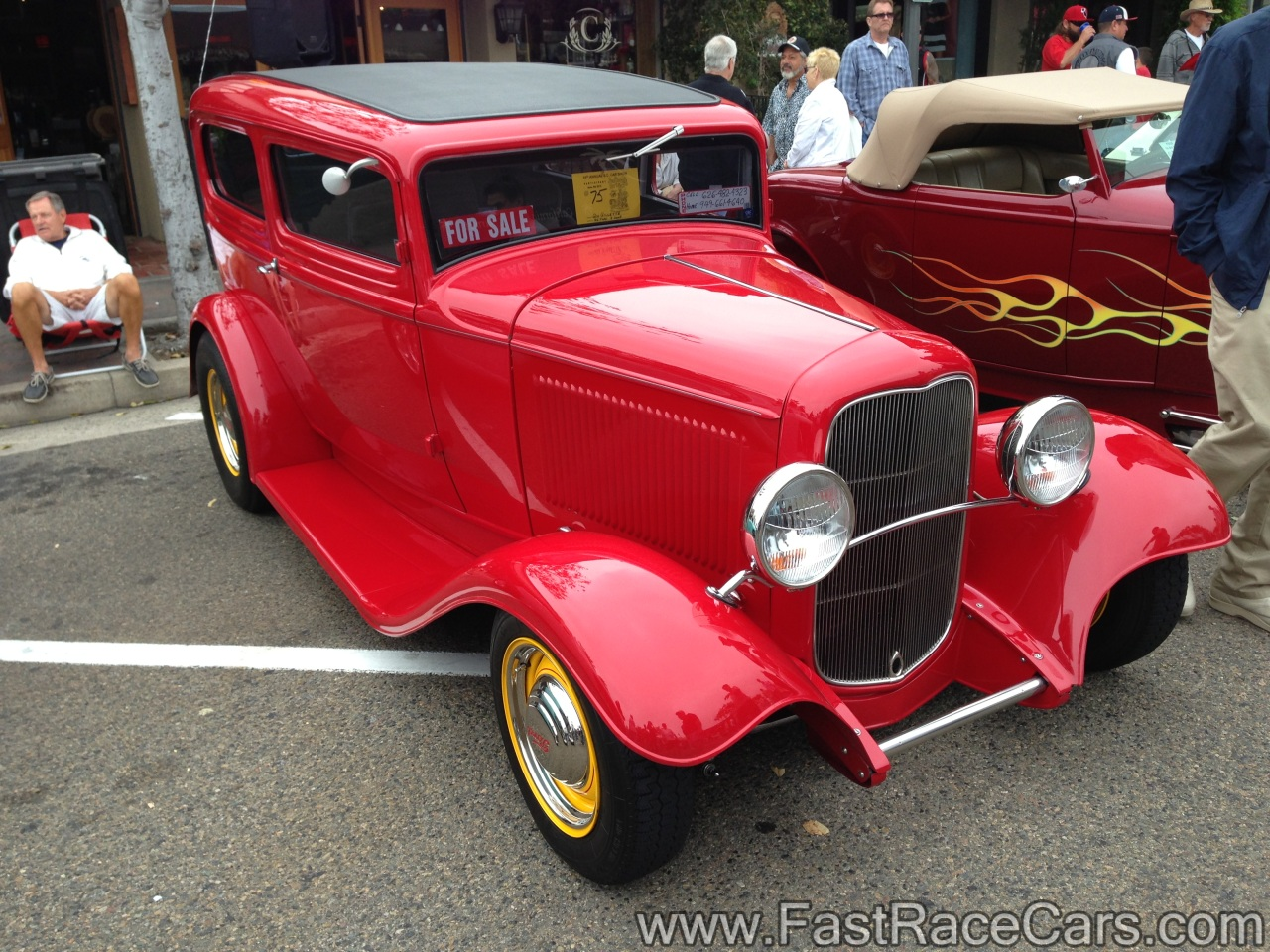 Muscle cars coupe picture of red 1932 ford 2 door sedan for 1932 ford 2 door coupe