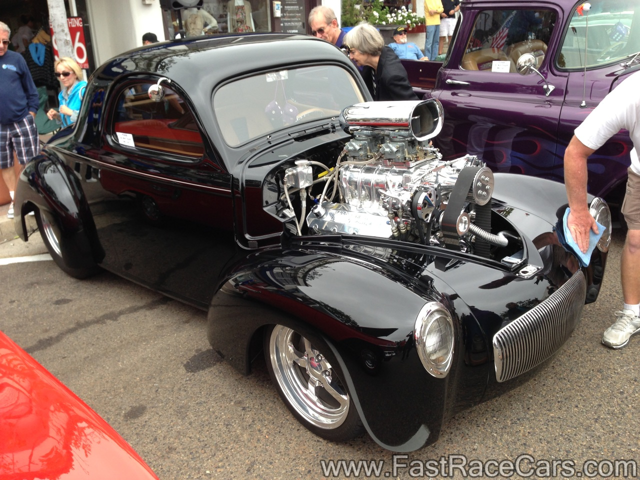 Muscle Cars Coupe Picture Of Black 1941 Willys Coupe With Blower
