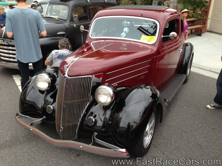 Ford Maroon and Black 5-Window Coupe