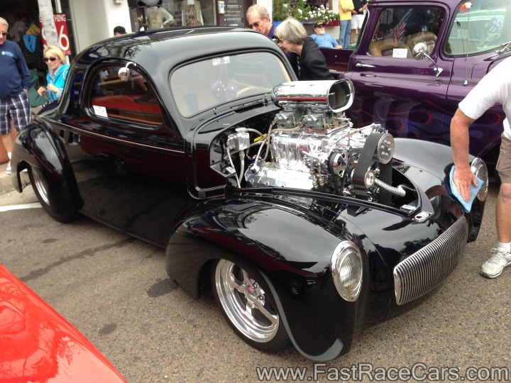 Black 1941 Willys Coupe with Blower Motor