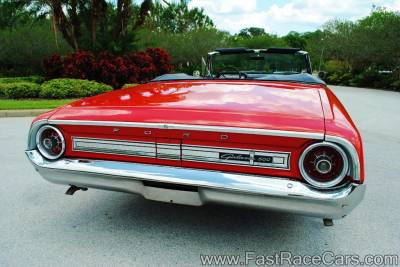 Red 1964 Ford Galaxie - Rear View