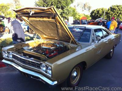 Beige 1968 Plymouth Roadrunner