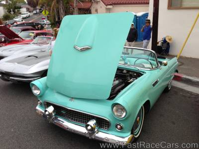 Light Blue Ford Thunderbird Convertible