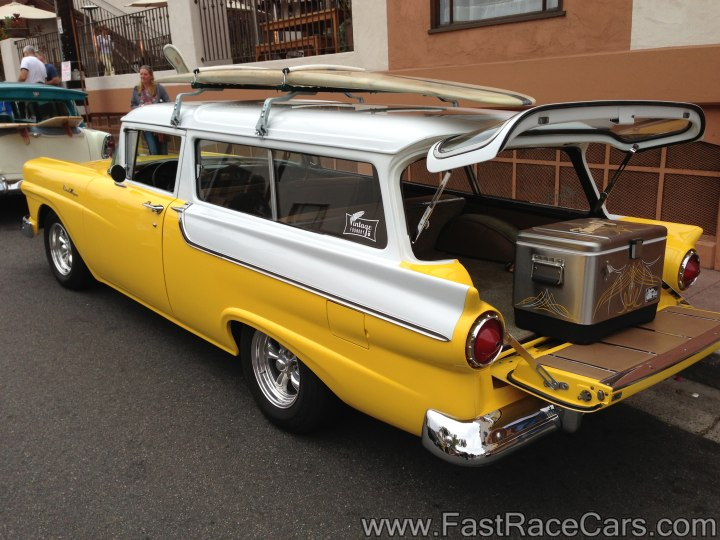 Muscle cars wagon picture of yellow and white 1957 for 1957 ford 2 door ranch wagon