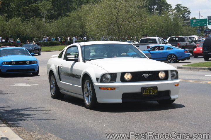 White Mustang GT California Special
