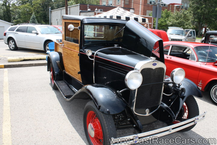 Black Ford Woody Truck