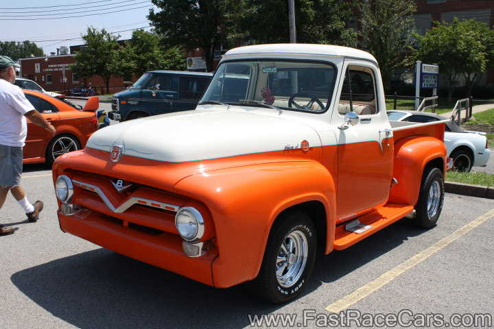 Custom Orange and White Ford Truck