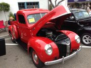 1940s Red Ford Truck